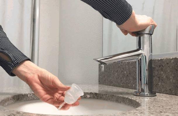 limpiar copa menstrual
